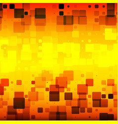 Black orange red yellow glowing rounded tiles vector