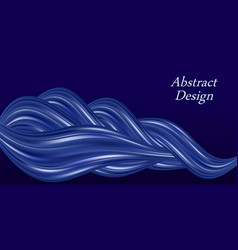 Blue silk wavy swirl smooth luxurious pearl satin vector
