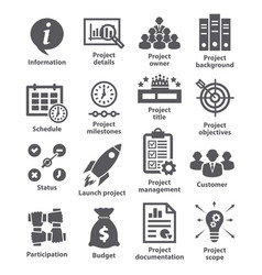 business management icons pack 44 vector image