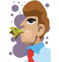 businessman eat money vector image