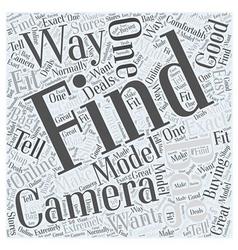 camera bags Word Cloud Concept vector image