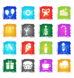 Celebration icon set vector