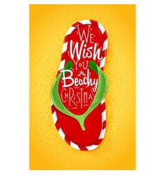 Christmas flip flop poster vector