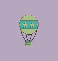 Circus watercolor hot air balloon vector