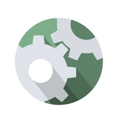Cogwheel gear mechanism settings icon vector image