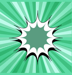 comic page green background vector image