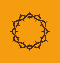 crown of thorns of the lord jesus christ vector image