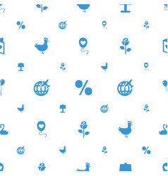 Decoration icons pattern seamless white background vector