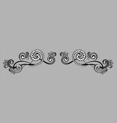 decorative monograms and calligraphic borders vector image