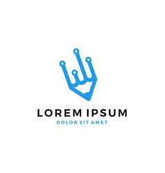 digital pencil logo icon download vector image