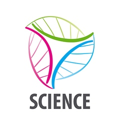 DNA logo in the form of multi colored flower vector