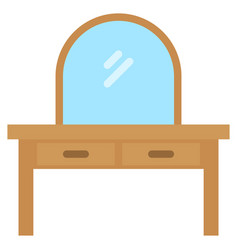 Dresser icon with flat style eps10 vector