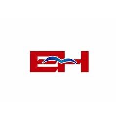 E and H logo vector image