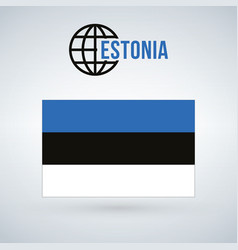 estonia flag isolated on modern background with vector image