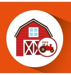 Farm and truck icon vector