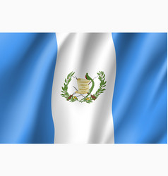 Flag guatemala realistic icon vector