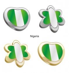 flag of Nigeria vector image