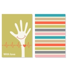 Funny creative card with love vector image