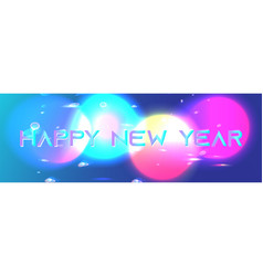 galaxy shining objects new year background vector image
