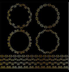 gold geometric frames and borders vector image vector image