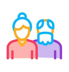 grandparents icon outline vector image
