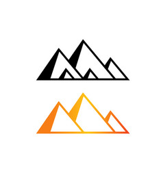 great pyramid of giza logo and icon art vector image