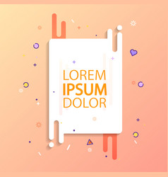 Greeting card with graphic elements and colourful vector