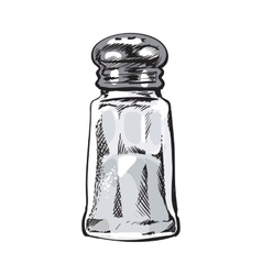 Hand drawn salt mill shaker grinder isolated vector image