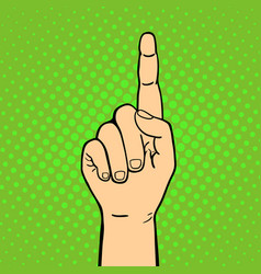 Hand showing thumbs up deaf-mute gesture human arm vector