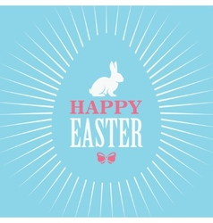 Happy Easter Blue Poster vector