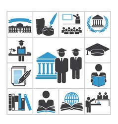 High education icons vector