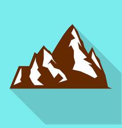 hight mountain icon flat style vector image
