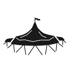 holiday tent icon simple style vector image