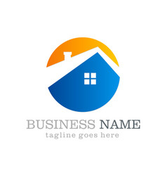 Home roof icon business logo vector