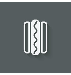 Hotdog sausage in bread vector