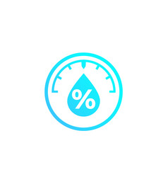 Humidity water level control icon vector