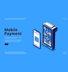 landing page nfc technology mobile payment vector image