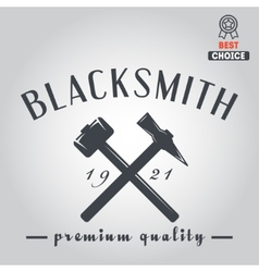 Logo for blacksmith typographic logotype badge vector image