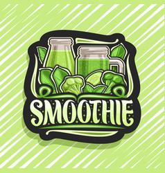 Logo for green smoothie vector