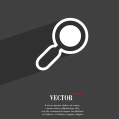 magnifying glass zoom icon symbol Flat modern web vector image