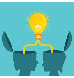 Male and female together make a idea vector image vector image
