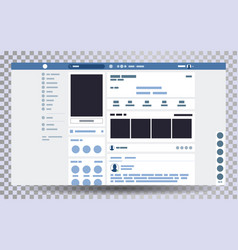 mock up web page browser vector image