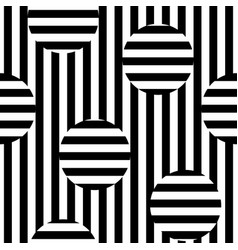 Monochrome seamless striped pattern vector