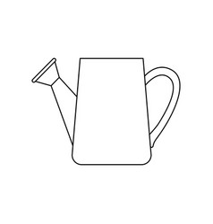 monochrome silhouette of watering can vector image