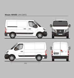 Nissan nv400 cargo van l1h1 2015 vector