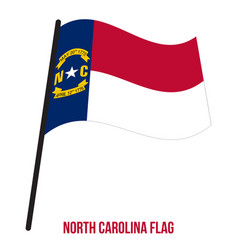 North carolina us state flag waving on white vector