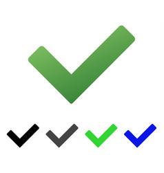 Ok tick flat gradient icon vector