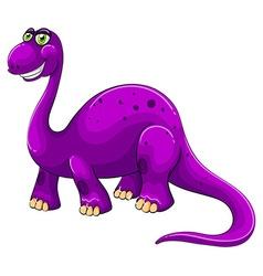 Purple dinosaur standing alone vector image