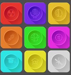 radiation symbol protection world globe and vector image
