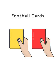 Red and yellow football cards vector